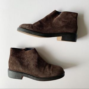 Tommy Hilfiger brown suede zip ankle boots